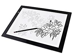 A3 LED Artcraft Tattoo Drawing Tracing Table Displays Pad, Light Tracer Photography ArtCraft Light Box(ADJUSTABLE Illumination Tracer 50000 Hours Lifetime)