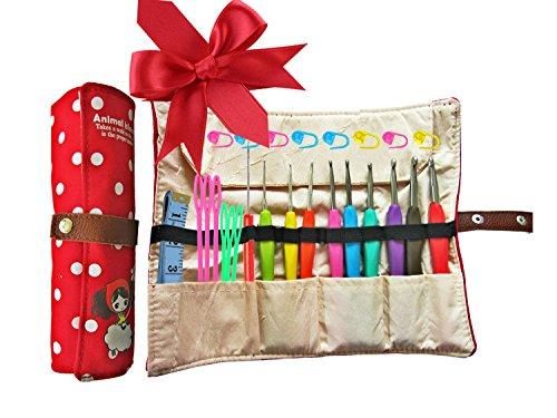 Ergonomic Crochet Kit & Organiser 9pcs