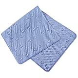 CYCTECH® Non-Slip Bath Mat Bathroom Sucker Bathtub Permeable Pedestal Rug (Blue)