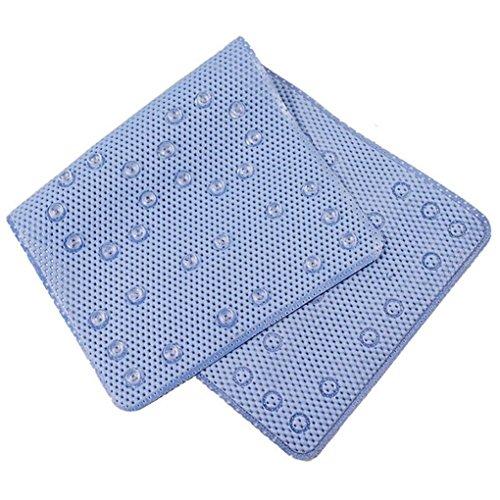 CYCTECH® Non-Slip Bath Mat Bathroom Sucker Bathtub Permeable Pedestal Rug (Blue) by CYCTECH®