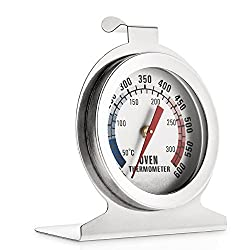 Stainless Steel Dial Oven Thermometer Grill Temperature Gauge For Home Kitchen Food Meat Hang Or Stand In Oven