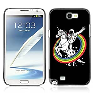 YOYOSHOP [Astronaut & Unicorn Rainbows] Samsung Galaxy Note 2 Case