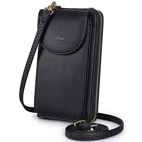 S ZONE Leather Cellphone Zippered Crossbody product image