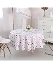 """Vinylla Hule para mesa, de PVC, se limpia fácilmente con un paño, diseño de lunares, varios colores, Multicolor, Round(Dia70"""")"""
