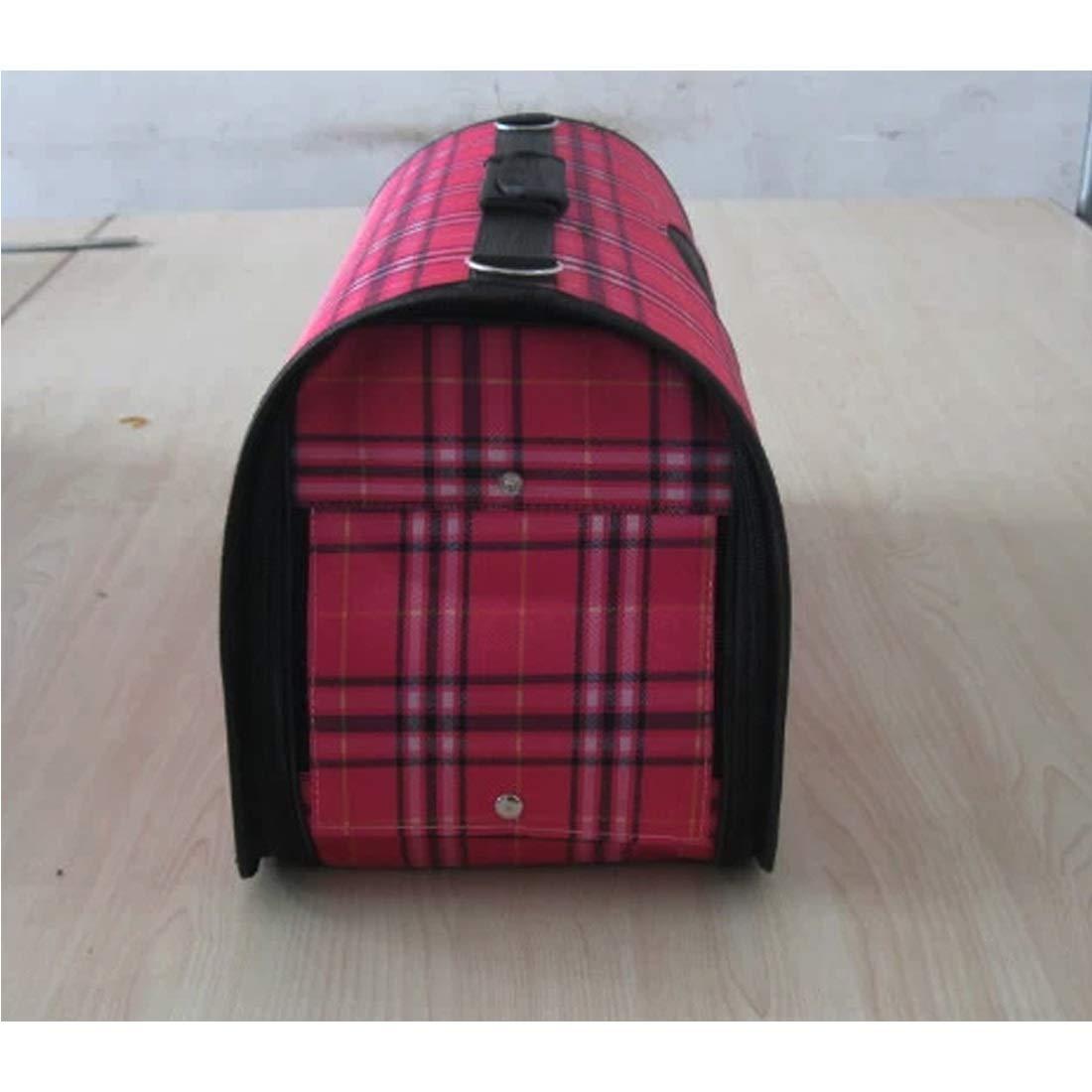 Red S Red S HUAyue Stripy Pet Bag Dog Cat Bag Varicoloured Shoulder Messenger Bag Carrying Case Pet Supplies (color   Red, Size   S)