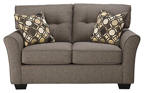 Ashley Furniture Signature Design - Tibbee Loveseat - Contemporary Couch - Sleek Tailored Sofa -  Slate - High End Contemporary Furniture