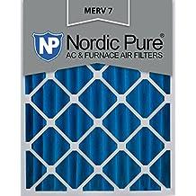 Nordic Pure 16x20x4M7-2 MERV 7 Pleated AC Furnace Air Filter, 16x20x4, Box of 2