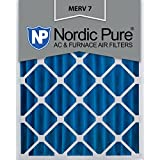 Nordic Pure 20x24x4 (3-5/8 Actual Depth) MERV 7 Pleated AC Furnace Air Filters, 2 Piece