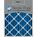 Nordic Pure 16x24x4M7-1 MERV 7 Pleated AC Furnace Air Filter, 16x24x4, Box of 1