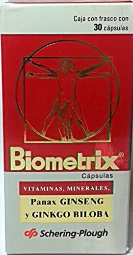 Biometrix Multivitamins And Minerals With Ginseng and Ginkgo Biloba 30 Capsules (Pack of 2)