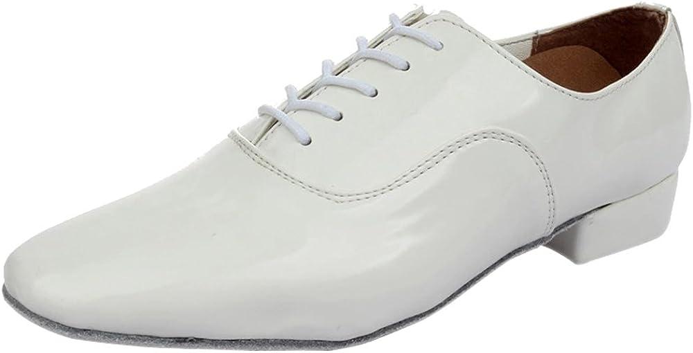 BOZEVON Soft Sole Boys Latin Dance Shoes Modern Dance Ballroom Dance Shoes