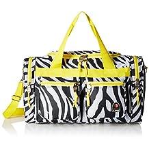 Rockland PTB419 Luggage Tote Bag, Lime Zebra, Medium, 19-Inch