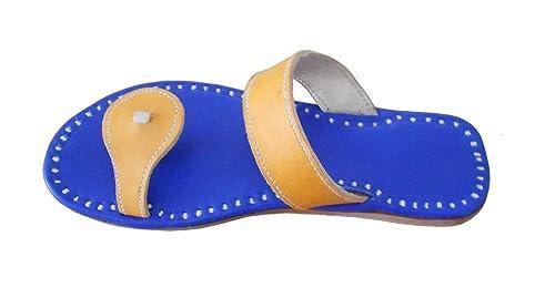 kalra Creations Hombre Piel de tradicional indio étnico Zapatillas: Amazon.es: Zapatos y complementos