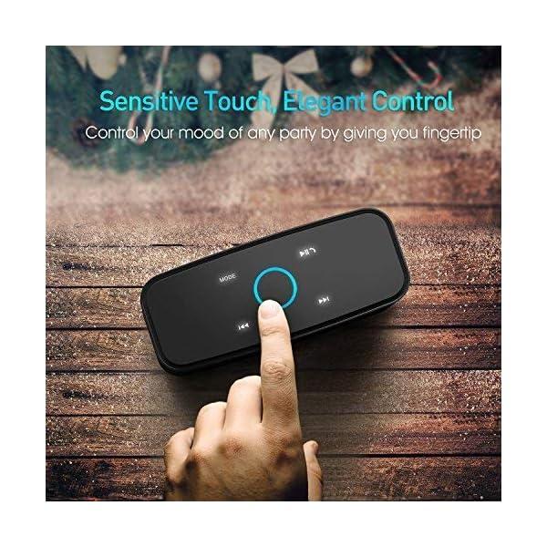 Enceinte Bluetooth 12W, DOSS SoundBox Haut-Parleur Bluetooth sans Fil Portable,Commande Tactile et Définition Stéréo, 12 Heures d'Autonomie en Lecture,Mains Libres Téléphone, Carte TF Support.-Noir 3