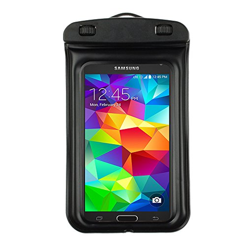 Waterproof Pouch Dry Bag for Samsung Galaxy S5 S 5 SV / S5 ACTIVE 2014 smartphone (Black) by ECCRIS (Image #1)