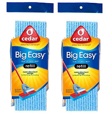 O-Cedar Big Easy Flat Sponge Mop Refill - Pack of 2