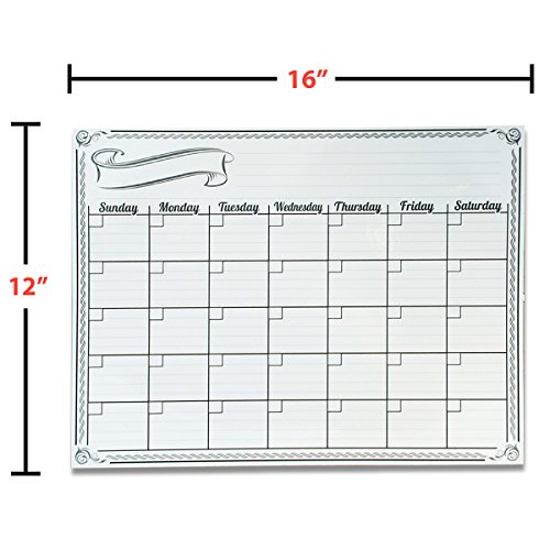 Magnetic Weekly Calendar For Refrigerator : Smart planner s monthly magnetic refrigerator calendar dry