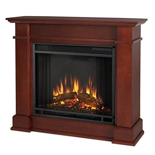 - Real Flame Devin Electric Fireplace in Dark Espresso, Small,