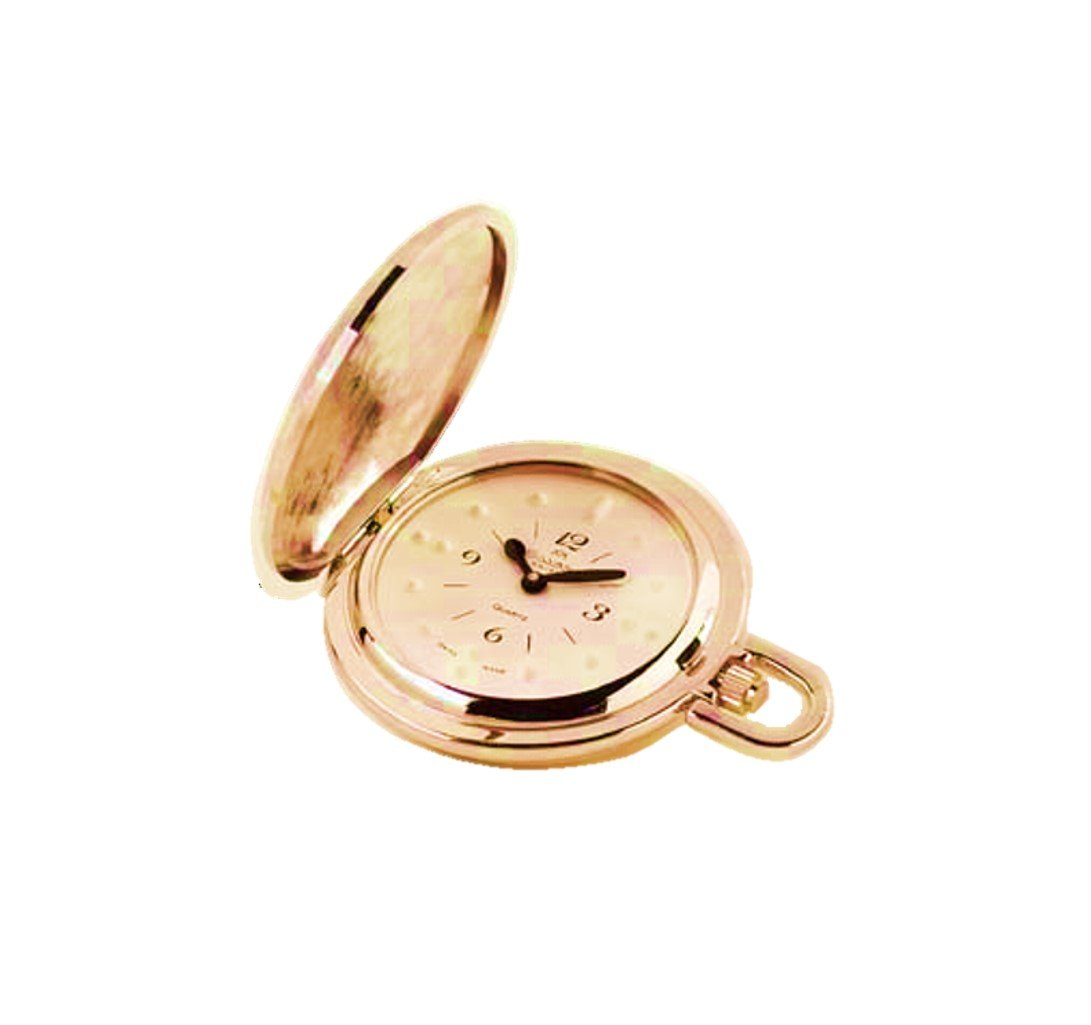 Seculus Gold Plated Braille Pocket Watch