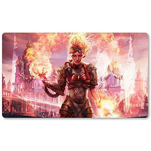 Chandra, Torch of Defiance - Board Game MTG Playmat Table Mat Games Size 60X35 cm Mousepad Play Mat for Yugioh Pokemon Magic The Gathering