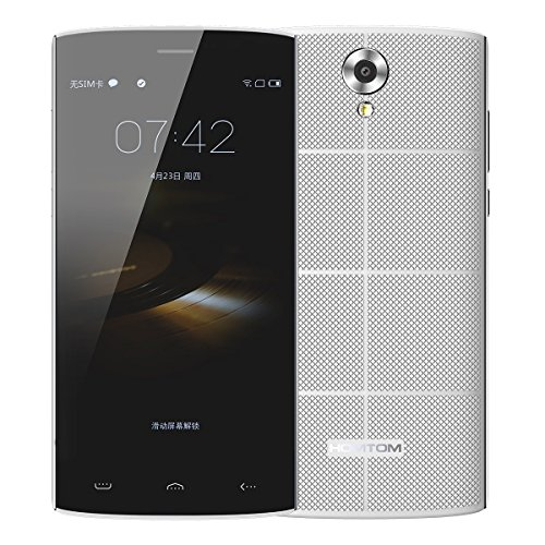 HOMTOM HT7 3G Unlocked Cell Phone Quad Core Android 5.1 Dual SIM Smartphone 5.5. (White)