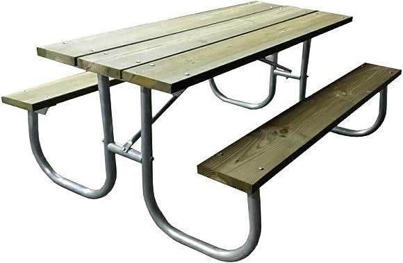 Aluminum picnic table frame Commercial Grade-Frame only Rosendale Picnic Table