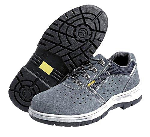 Stahlkappe Arbeitsschuh Schutzschuhe Sportlich Arbeitsschuhe mit Schuhe Sicherheitsschuhe Leicht Grey02 Atmungsaktiv Herren Bequemer TESnw6