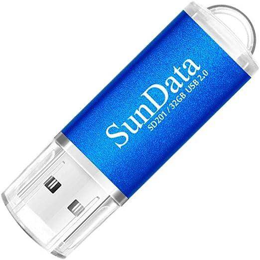 SunData 5 Pezzi 16GB Chiavetta USB Pen Drive 16GB Metallo USB2.0 Unit/à Memoria Flash Thumb Drive per Archiviazione Dati con Luce LED 5 colori: Nero Blu Verde Rosso Oro