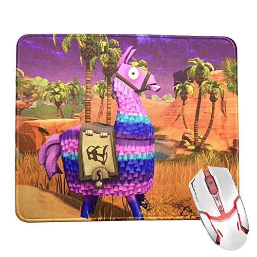 Janhop Fortnite Game Mouse Pads,Loot Llama Mousepad - Premium Waterproof  Stitched Edges Mousepads Bulk for Computers,Laptop,Office & Home,12 x