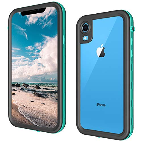 iPhone XR Waterproof Case, Full Body Protective with Built-in Screen Protector Snowproof/Waterproof Case for iPhone Xr Case 2018 (Black2)
