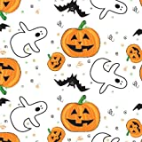 Party Essentials Heavy Duty Printed Plastic Table Cover Available in 44 Colors, 54'' x 108'', Halloween