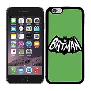 Funda carcasa TPU (Gel) para Apple iPhone 6 6S diseño Batman fondo verde superhéroe borde negro