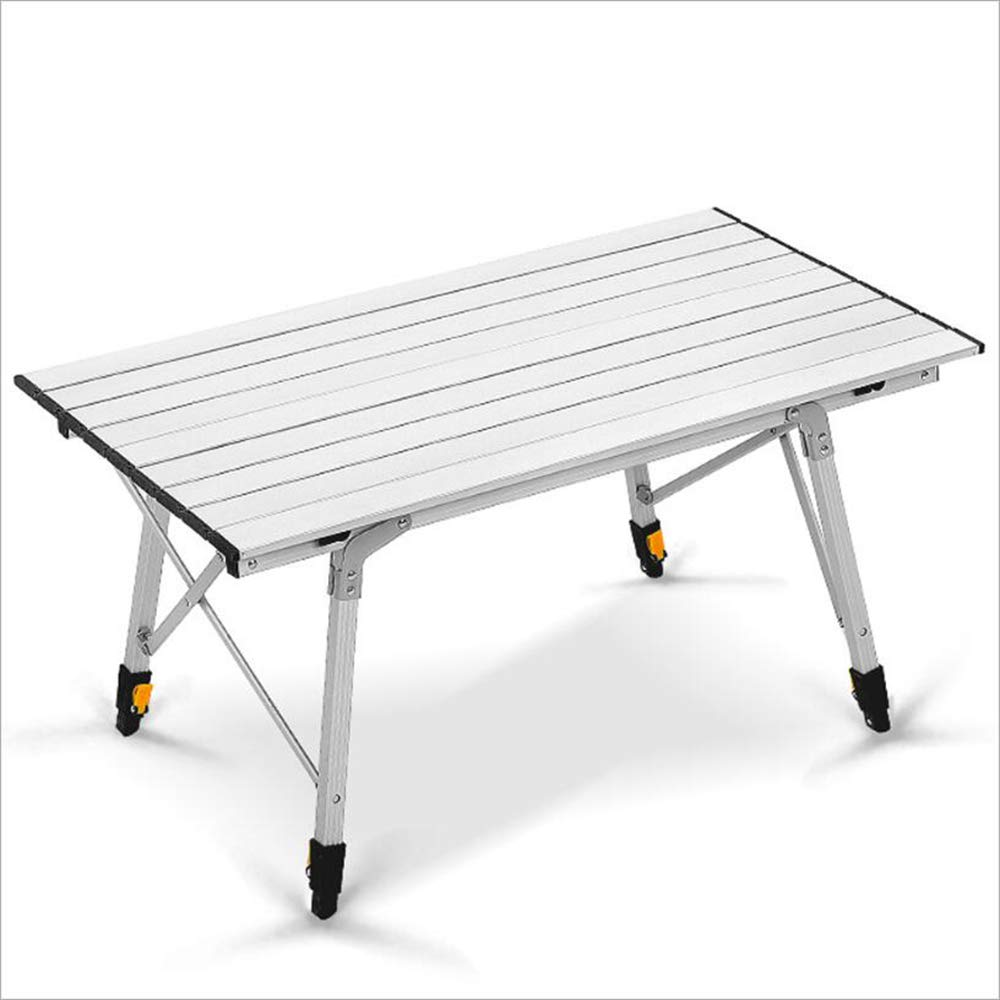 MAOFALZZNA Mesa para Camping Al Aire Libre A Prueba de resbalones Doblez Aluminio para Pesca//Camping Plata