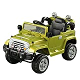 12 volt battery cars for kids - Aosom 12V Kids Electric Battery Powered Ride On Toy Off Road Car Truck w/ Remote Control - Green
