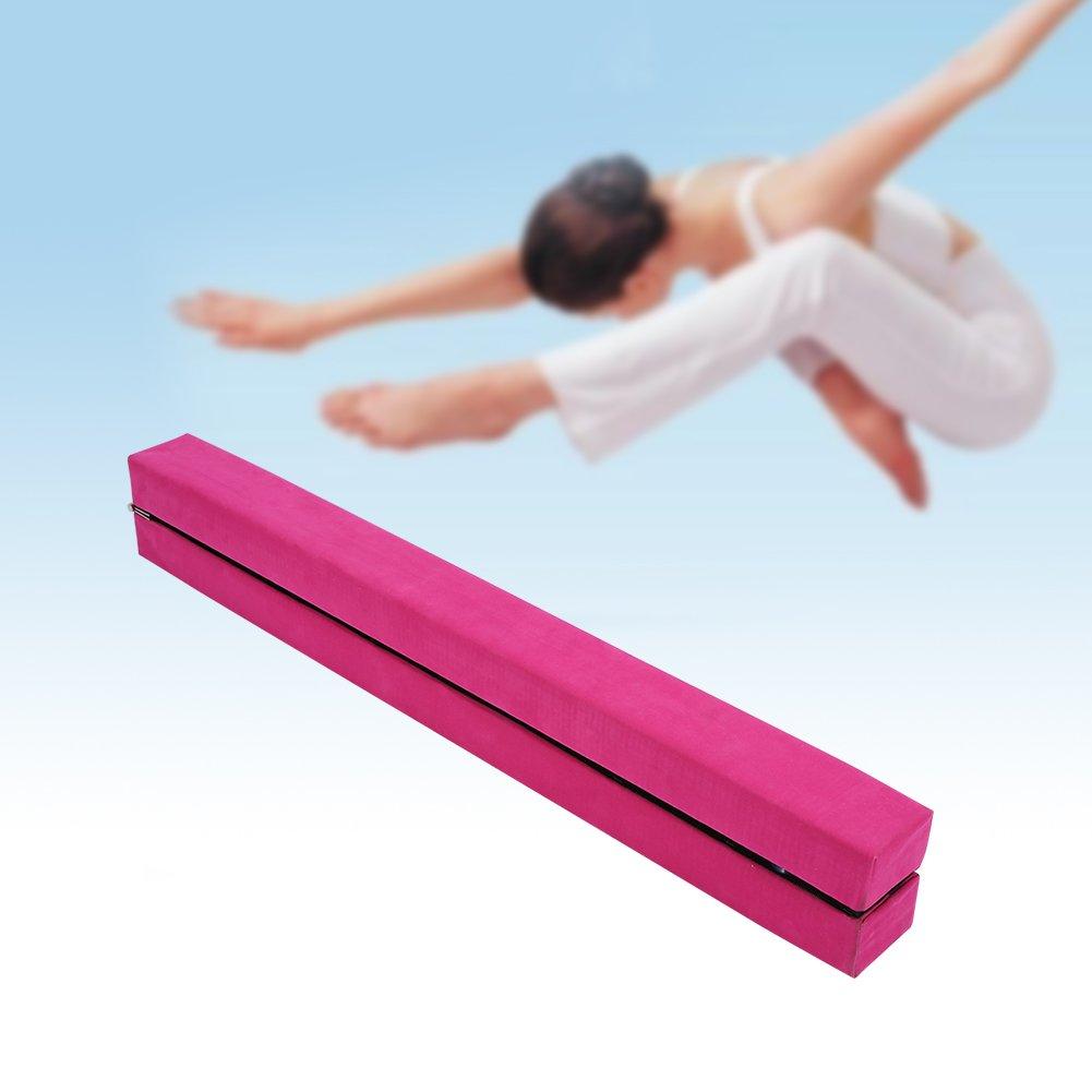 Asse di equilibrio da 2,2m per fitness, in ecopelle scamosciata, pieghevole , Blue 2m per fitness Yosoo