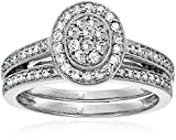 Sterling Silver Diamond Bridal Ring (1/2cttw, I-J Color, I2-I3 Clarity), Size 8