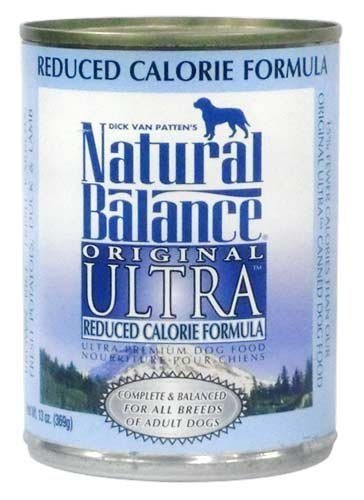 Natural Balance Ultra Premium Reduced Calorie Canned Dog Food