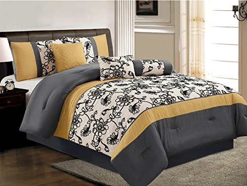 Black And White California King Bed In A Bag - 9