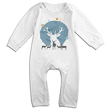 VGG&FDS Baby Boy Girls Rompers Reindeer Christmas Creepers Bodysuit Clothes