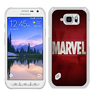WOSN Ai Marvel Logo Film Art Illust Minimal White Case Cover for Samsung Galaxy S6 Active