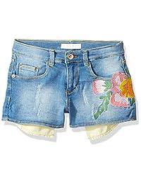 GUESS Pantalones Cortos de Mezclilla con Bolsillo Floral para niñas