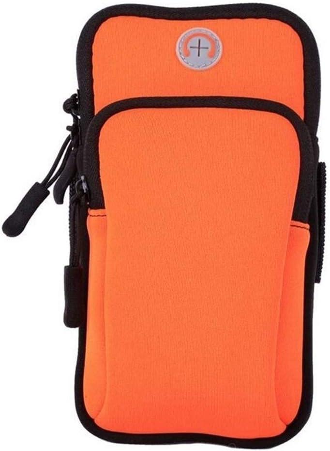 YDZY Prueba de Sudor Brazalete Sport Gym Brazalete Funda Impermeable for teléfono for Xiaomi Redmi 4X Note 4 4a Mi5 Mi6 Mi7 Funda Running Hand Bag Arm Band Case (Color : Orange)