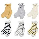 Cute Baby Socks Boys Girls Super Soft Warm Cotton Socks Newborn Toddler Winter Floor Socks Kids Anti-skid 0-3 Years 3/6 Pack (Set 3-6 Pairs, XS)