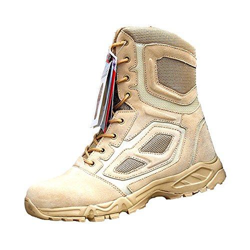 """LiliChan Men's 8"""" Side-Zip Combat Duty Boots Military and Tactical Boot (11, (Zip Assault Boot)"""