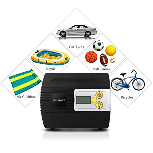 DBPOWER 12V DC Tire Inflator with Digital LCD Display and LED Lights, Portable Air Compressor Pump for Cars, Bikes and Inflatables by DBPOWER (Image #5)