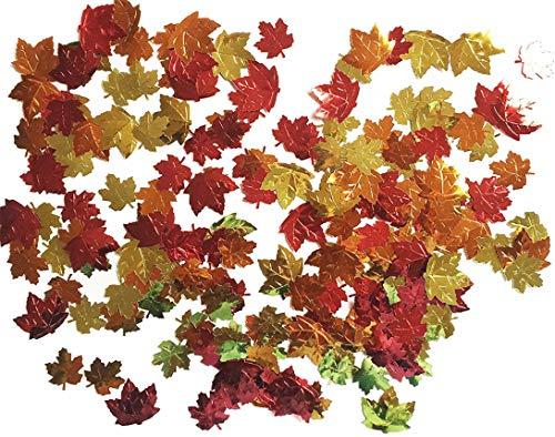 (Forum Novelties 98610 Unisex-Adults Harvest Time Metallic Leaf Shaped Confetti 0.5 oz Pack, Multi, Standard, Multicolor)
