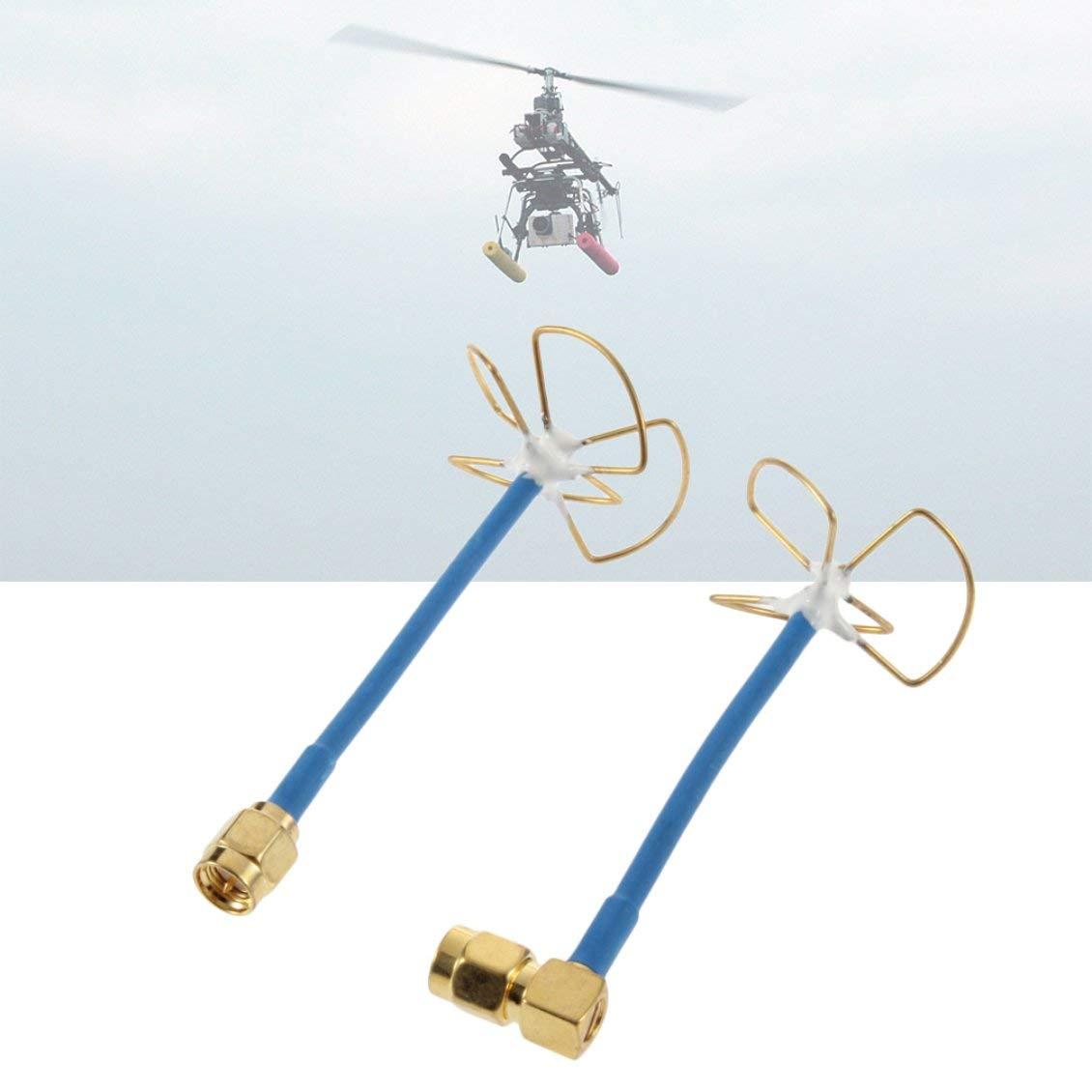 ForceSthrength 5.8G RC FPV Antena//Tr/ébol de Forma Recta Que recibe tr/ébol de Cuatro Hojas