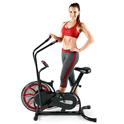 Marcy Fan Exercise Bike with Air Resistance System – Red and Black – NS-1000 by Marcy
