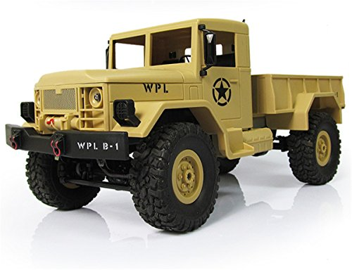 Remote Control Car Vehicle RC Crawler Electric Remote Control Off-road RC Military Truck 1:16 Scale 2.4Ghz Radio 4WD 10MPH Rc Trucks with Rechargeable Battery for Kids by Hobby-Ace