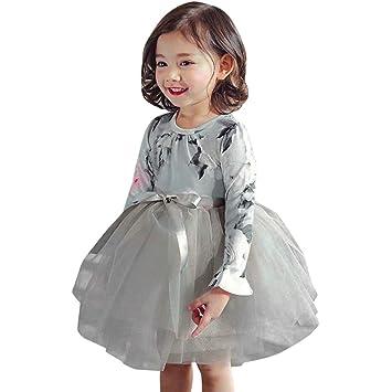 6b83c437f6fa2 Yochyan 子供 キッズドレス 可愛い キュート 子供服 女の子 プリンセスドレス ベビー服 ドレス ロングスリーブ 長袖